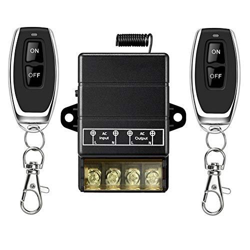 YETOR Interruptor remoto inalámbrico, Interruptor inalámbrico de relé 220V / 230V /...