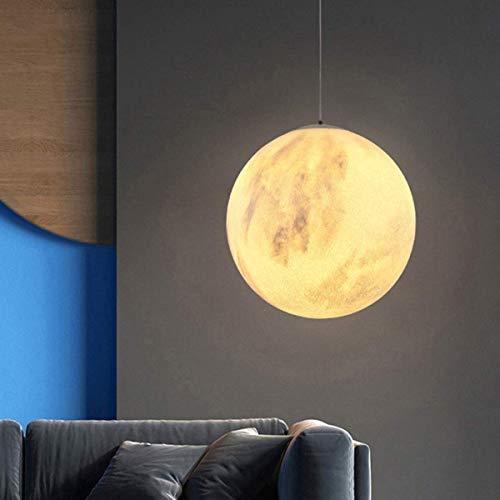 Chenbz 3D de la luna de la lámpara, la luz de la luna 3D Impreso lámpara noche de la luna con el colgante de la línea luna luz colgante for las luces de lámparas de techo de la sala principal Decoraci