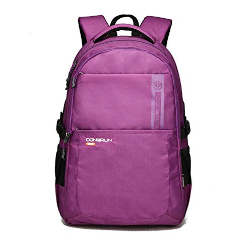 College Student School Bag, Multifunction Computer Bag, Korean Business Casual Backpack for Men and Women 51 * 34 * 24Cm 45L Purple