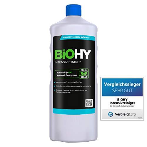 BiOHY Intensivreiniger Universal (1l Flasche) | Hochleistungs-INDUSTRIEREINIGER | Grundreiniger ideal für Hochdruckreiniger, schaumarm | Schmutzbrecher & Kraftreiniger