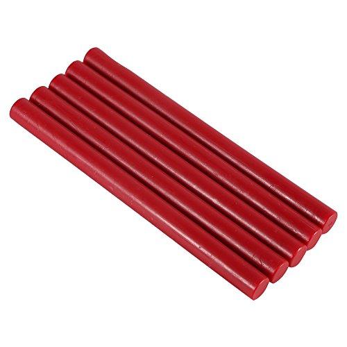 Haofy 5 Pezzi Bastoncini di Ceralacca per Sigillo di Inviti, Biglietti, Buste, 10 Colore (Rosso)