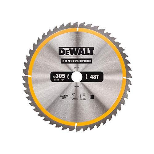 DeWalt Bau-Kreissägeblatt für Stationärsägen/Kreissägenblatt DT1959 (305/30 mm 48 WZ, universeller Einsatz und Querschnitte)