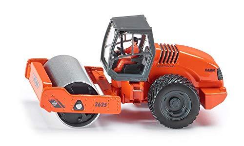 SIKU 3530, Hamm 3625 Walzenzug, 1:50, Metall/Kunststoff, Orange, Drehbare Walze