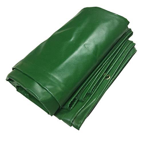 LHR - Lona impermeable y resistente de vinilo para lona con ojales y bordes reforzados, 16 mm de grosor, lona multiusos para inflables, tiendas de campaña y protección contra la intemperie, color verde, tamaño 2X3m/6.5'x9.8'