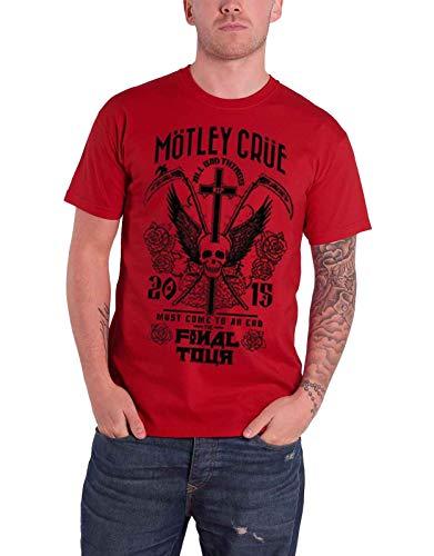 Motley Crue - Camiseta para hombre, color rojo