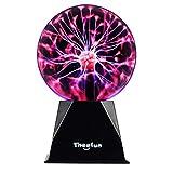 Plasma Ball, Theefun 6 Inch Touch & Sound Sensitive Plasma Lamp, Nebula Sphere Plasma Globe Novelty Toy for Decorations/Kids/Bedroom