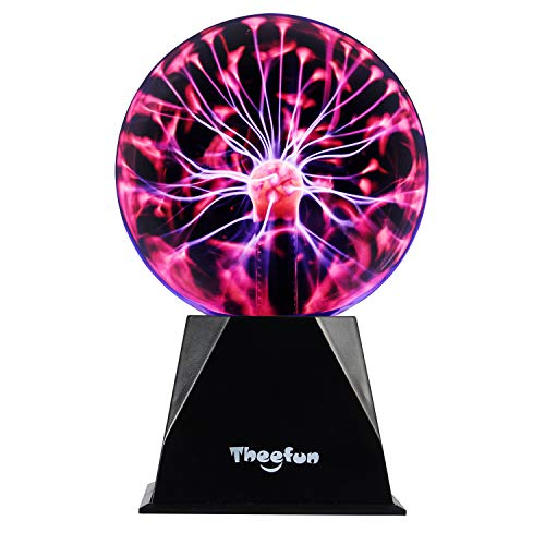 Theefun True 6 Inch Magic Plasma Ball , Touch & Sound Sensitive Plasma Lamp Light, Nebula Sphere Globe Novelty Toy for Decorations/Kids/Bedroom