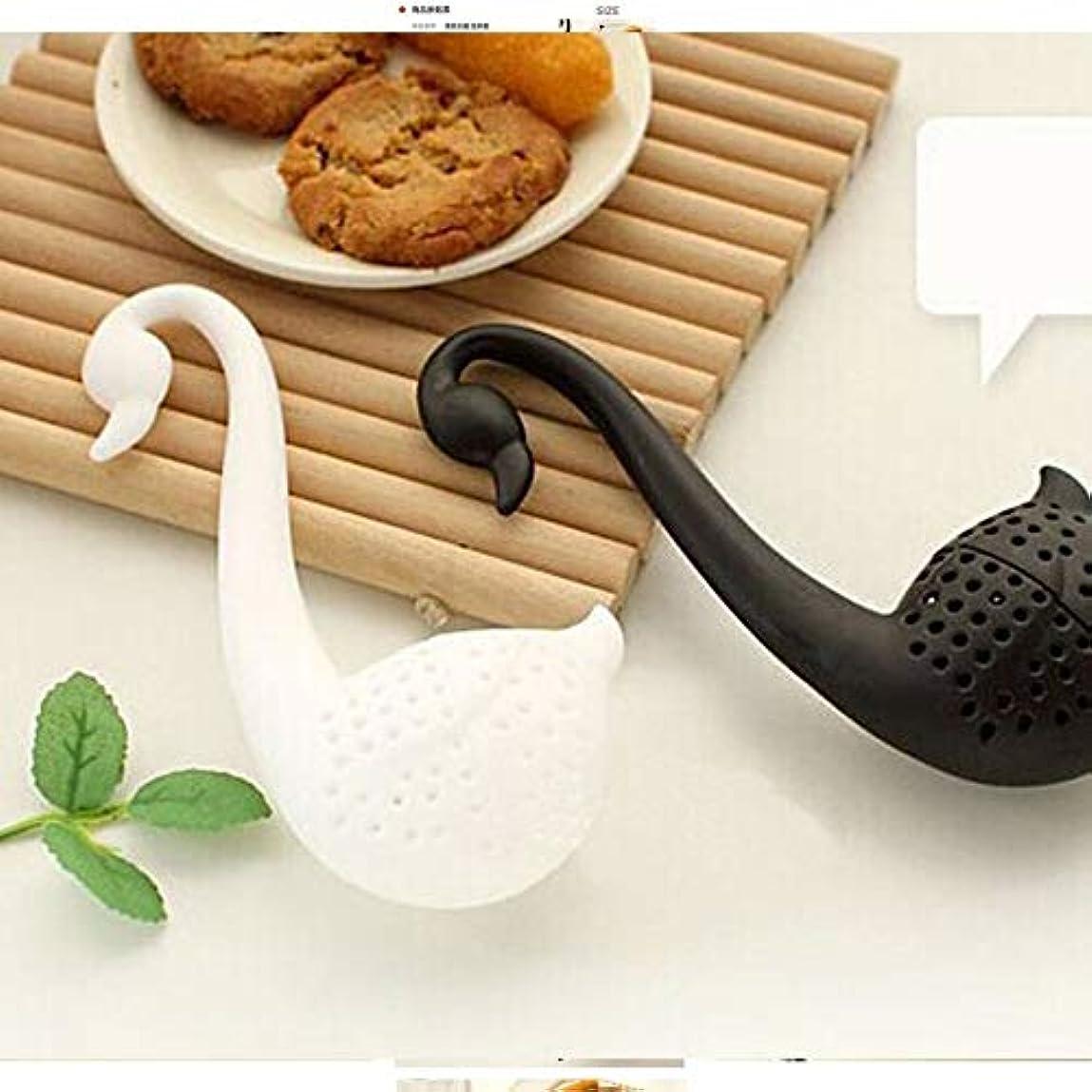 クリエイティブ茶注入器はスワンルースティーストレーナーハーブスパイスフィルターディフューザーキッチンガジェットコーヒーフィルターカップ、グラスアクセサリー
