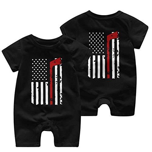 Kleid Rei Hockey American Flag Baby Mädchen Kurzarm Jumpsuit Einteiler Kleinkind Jumpsuit Gr. 86, mehrfarbig