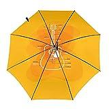 Diseño automático ligero compacto portátil del paraguas del viaje de la guitarra naranja y alta resistencia al viento