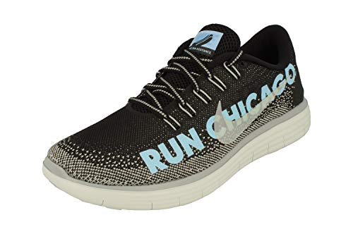 Nike Free RN Distance LE Mens Running Trainers 849662 Sneakers Shoes (US 9.5, Black White Blue Cap 004)