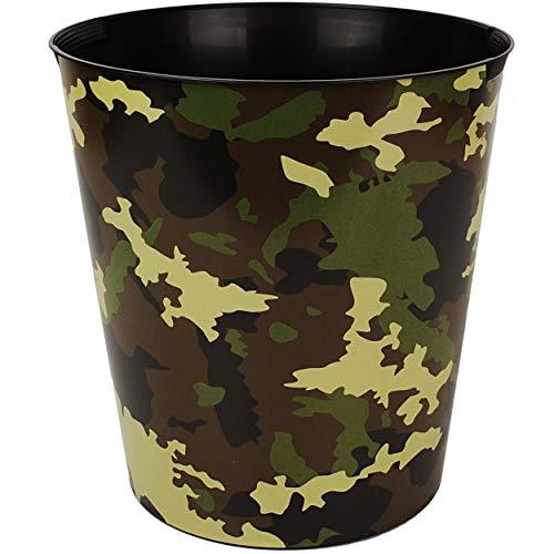 Papierkorb / Behälter - Camouflage - Militär & Armee Muster - 10 Liter - wasserdicht - aus Kunststoff - Ø 28 cm - großer Mülleimer / Eimer - Abfalleimer - Auf..