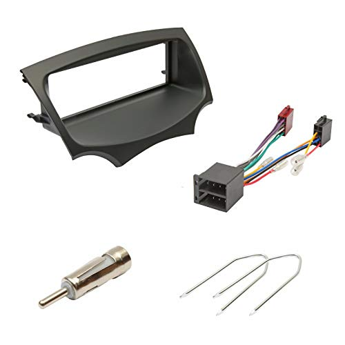 Convient Ford Ka Noir 2009> Radio Stéréo Auto Panneau Façade Antenne Iso Kit D'Installation