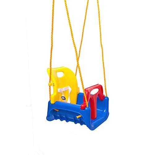 Chengzuoqing Columpio infantil de polipropileno, silla colgante de seguridad para niños, juguete para el jardín, para exterior e interior, para el jardín