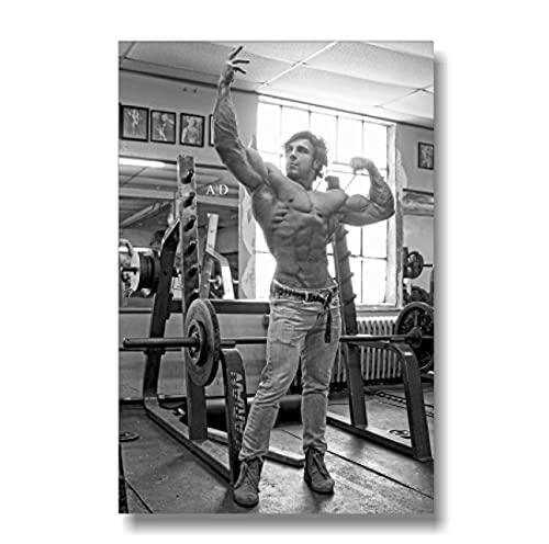 Póster Arte de la pared LienzoBody building Hombres Fitness Entrenamiento Motivación Inspiración Muscle Gym Fuente Pared Decoración para el hogar (50X75Cm) -20x30 Pulgadas Sin marco