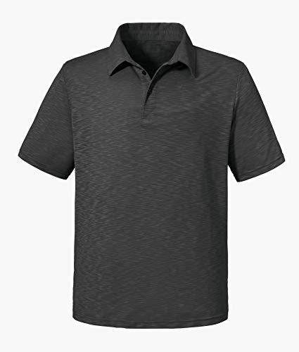 Schöffel Polo Shirt Izmir1, bequemes und leichtes Polohemd aus 2-Wege-Stretch, atmungsaktives Funktionsshirt mit Sonnenschutzfaktor., asphalt, 48