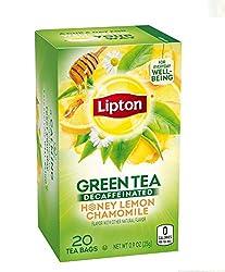 Lipton Green Tea, Decaffeinated Honey Lemon, 20 Count