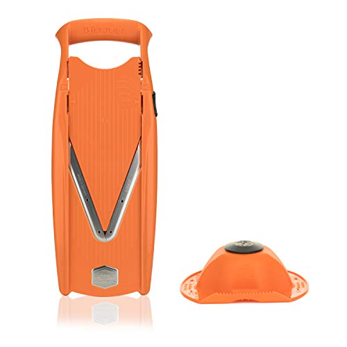 Börner Powerline Basic Set V5 mandolina Slicer en Naranja: Cortador de Verduras y Frutas Profesional