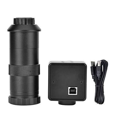 Plyisty 5.0MP USB High Definition Mikroskop Kamera Messsoftware mit 100X C-Mount Objektiv Unterstützung für win8/win7 (32 und 64 Bit)/für Visa/XP/win7/win10 System