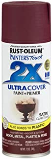 Rust-Oleum 249083 Painter's Touch 2X Ultra Cover, 12-Ounce, Satin Claret Wine