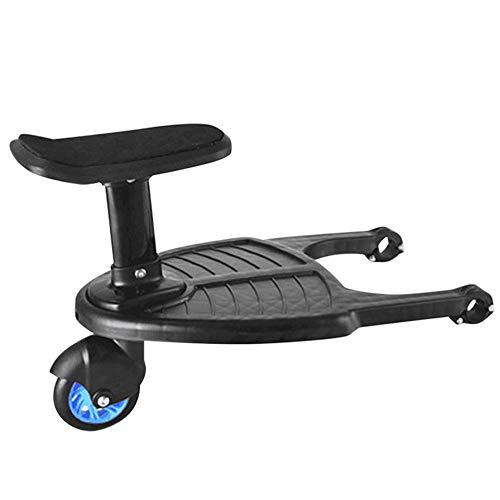 Kylewo kinderwagen pedaal met stoel, wandelwagen hulppedaal staande stoel kinderwagen Accessoire perfect voor wandelwagen Buggy Jogger