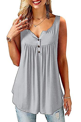 Amoretu Schulterfrei Oberteil Damen Tshirt V Ausschnitt Shirt Elegante Bluse Sommer Oberteile Grau M
