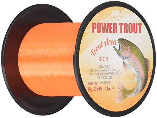 Akiro Power Trout, Filo da Pesca Unisex – Adulto, Arancione, 0.16 mm
