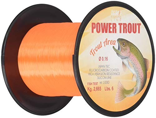 Akiro Power Trout, Filo da Pesca Unisex – Adulto, Arancione, 0.16 mm