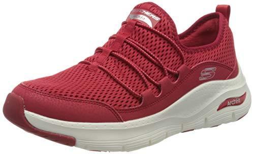 Skechers Arch FIT, Zapatillas Mujer, Rojo, 38 EU