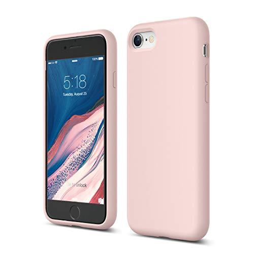 Elago Silicone Liquido Custodia Cover Compatibile con iPhone SE 2020, Compatibile con iPhone 8 e Compatibile con iPhone 7 – Protezione Full Body con Struttura a Tre Strati (Lovely Rosa)