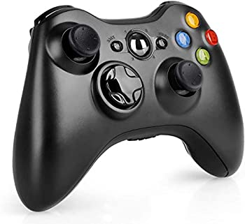 Wireless Controller for Xbox 360 2.4GHZ Game Controller Gamepad Remote for Xbox 360 Slim Console PC Black