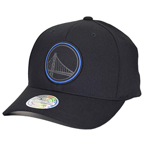 Mitchell /& Ness Golden State Warriors Black On Black GAS012 Snapback Cap Basecap