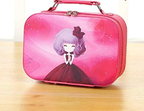 Sac de maquillage de grande capacité mignon portable portable boîte de maquillage portable coréen grand imperméable à l'eau