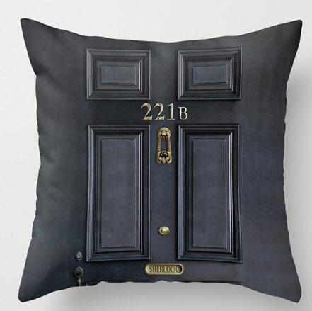 UniqueType Brand New Vintage Custom Classic Old Sherlock Holmes 221B Door Pattern Unique Pillow Cases Best Pillow Cover