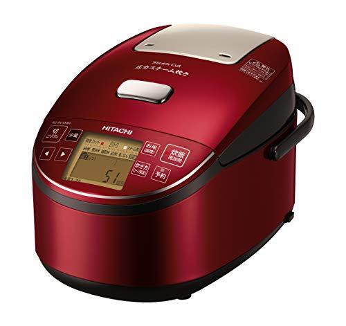 日立 炊飯器 5.5合 圧力&スチームIH ふっくら御膳 本体日本製 打込鉄釜 蒸気カット RZ-BV100M R メタリックレッド