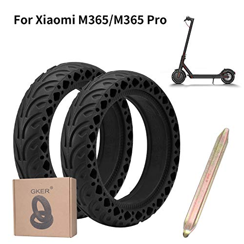 GKER Perfectamente Compatible Xiaomi M365, Neumáticos Antideslizantes Duraderos con El último Diseño De Nido De Abeja,Adecuado para Neumáticos Delanteros/Traseros Millet M365 Accesorios
