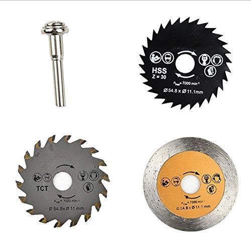 JINKEBIN Abrasivo de Hoja de gran velocidad steelsaw, aleación de la hoja de sierra de acero, hoja de sierra, la hoja de sierra de metal, 55 mm de la rueda de corte set herramienta rotativa, con barra