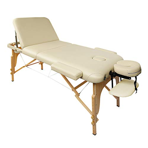 Naipo Table de Massage Lit Pliante 3-Section Professionnel...