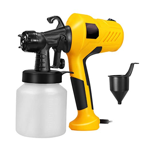 Fewear 400W High Power Paint Sprayer, 800ml/min HVLP Home Electric Spray Gun with 800ml Container, 1 Nozzle, Easy Spraying and Cleaning (Yellow)