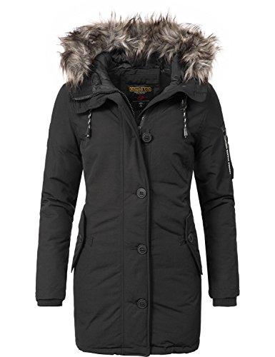 Khujo Damen Mantel Wintermantel Winterparka YM-Mary Schwarz Gr. XL