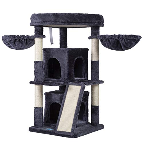 Hey-brother 102cm Multi-Level Cat Tree Condo Furniture with Sisal-Covered...