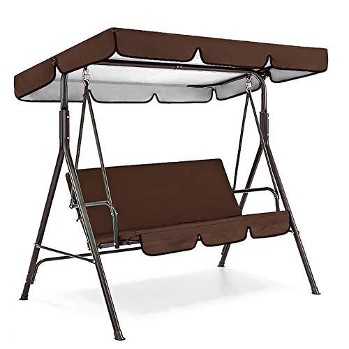 LUSHAasd Patio Swing Canopy Ersatz Top Cover Sitzbezug, Ersatzbezug für Swing Canopy, Gartensitz Sun Shade Treasures Veranda Swing Hammock Protector Möbelbezug