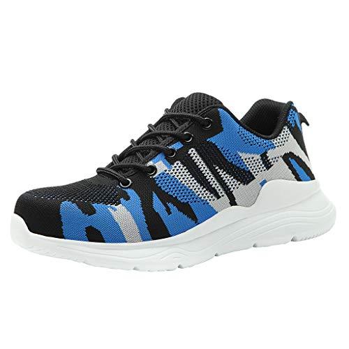 Brizz Heren Sneaker veiligheid stalen neus werk wandelen ademende trainer high top laarzen fitness gym schoenen werkschoenen antislip veiligheidsschoenen straatloopschoenen