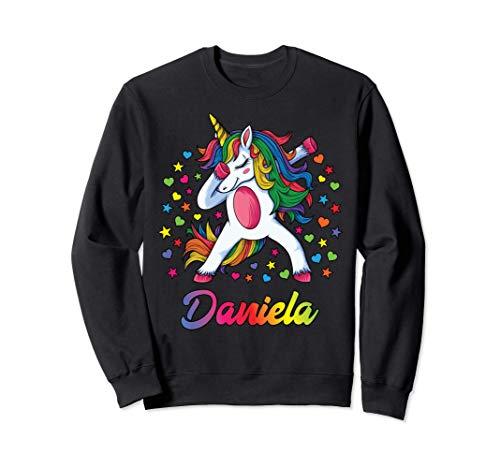 Daniela Nombre Personalizado Regalo Cumpleaños Unicornio Sudadera