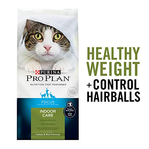 Price comparison product image Purina Pro Plan Hairball,  Healthy Weight,  Indoor Dry Cat Food,  FOCUS Indoor Care Turkey & Rice Formula - 3.5 lb. Bag