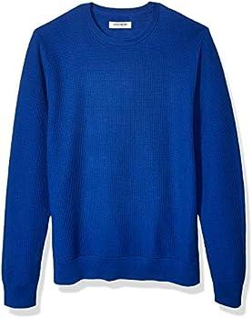 Goodthreads Men's Soft Cotton Thermal Stitch Crewneck Sweater