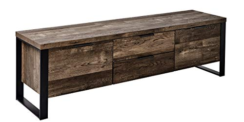 "Marca Amazon - Movian Ems - Mueble moderno para TV de hasta 60"", 152,4, x 39,5 x 45 cm, efecto de roble vintage"