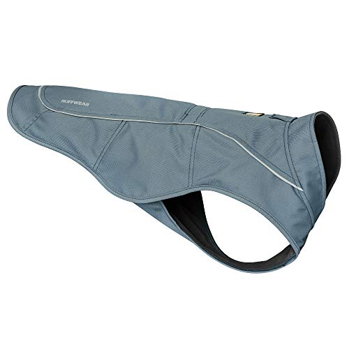 RUFFWEAR, Overcoat Fleece Lined Water Resistant Cold Weather Jacket for Dogs, Slate Blue, Small