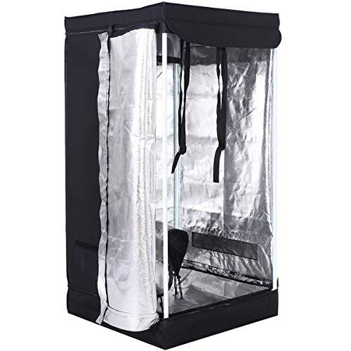 COSTWAY Growbox Tenda Coltivazione Tenda per la Crescita delle Piante per Interno Tenda Idroponica (60 x 60 x 120 cm)