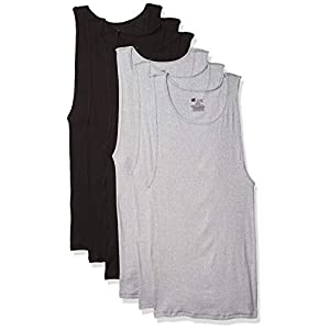 Hanes Men's ComfortSoft Moisture Wicking Tagless Tank Undershirts-Multipacks